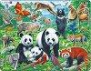 Животни в джунглата - Пъзел в картонена подложка -