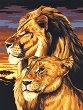 Рисуване по номера с акрилни бои - Лъвове