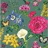 Салфетки за декупаж - Градински цветя - Пакет от 20 броя -
