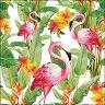 Салфетки за декупаж - Фламинго - Пакет от 20 броя -