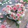 Салфетки за декупаж - Сърце от рози - Пакет от 20 броя -