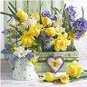 Салфетки за декупаж - Пролетни цветя - Пакет от 20 броя -