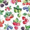 Салфетки за декупаж - Горски плодове - Пакет от 20 броя -