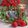 Салфетки за декупаж - Рози и бръшлян
