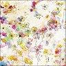 Салфетки за декупаж - Акварелни цветя - Пакет от 20 броя -