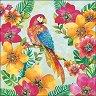 Салфетки за декупаж - Тропически папагал - Пакет от 20 броя -