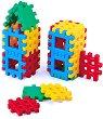 Детски конструктор с вафлени блокчета - Комплект от 24 части -