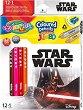 Цветни моливи Jumbo - Star Wars - Комплект от 13 молива и острилка -