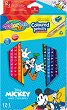 Цветни моливи - Мики Маус - Комплект от 13 молива и острилка -