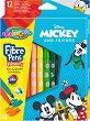 Флумастери - Мики Маус - Комплект от 12 цвята -
