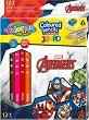 Цветни моливи Jumbo - Отмъстителите - Комплект от 13 молива и острилка -