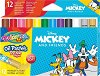 Маслени пастели - Мики Маус - Комплект от 12 цвята -