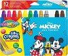 Гел-стик пастели - Мики Маус - Комплект от 12 цвята -