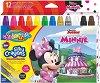 Гел-стик пастели - Мини Маус - Комплект от 12 цвята -