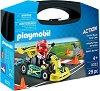 """Картинг - Детски конструктор в куфарче от серията """"Playmobil - Action"""" -"""