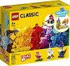 LEGO: Classic - Creative Transparent Bricks - Детски конструктор с прозрачни части в кутия -