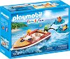 """Моторна лодка - Фигури с аксесоари от серията """"Playmobil: Family Fun"""" -"""
