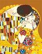 Рисуване по номера с акрилни бои - Целувката: Климт - Комплект за картина с размери 35 x 45 cm -