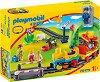 """Моето първо влакче - Детски конструктор от серията """"Playmobil: 1.2.3"""" -"""
