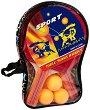 Комплект за тенис на маса - Sport - С текстилен калъф -