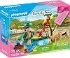 """Подаръчен комплект - Зоопарк - Детски конструктор от серията """"Playmobil: Family Fun"""" -"""