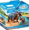 """Хипопотам и малко - Фигурки с аксесоари от серията """"Playmobil: Family Fun"""" -"""