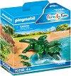 """Алигатор с бебета - Фигурки с аксесоари от серията """"Playmobil: Family Fun"""" -"""