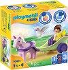 """Фея с карета и еднорог - Фигурка с аксесоари от серията """"Playmobil: 1.2.3"""" -"""