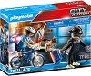 """Преследване на обирджия с колело - Детски конструктор от серията """"Playmobil: City Action"""" -"""