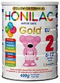 Преходно мляко - HONILAC Gold 2 - Метална кутия от 400 g за бебета от 6 до 12 месеца -