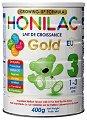 Преходно мляко - HONILAC Gold 3 - Метална кутия от 400 g за бебета от 1 до 3 години -