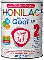 Преходно козе мляко - HONILAC Goat 2 - Метална кутия от 400 g за бебета от 6 до 12 месеца -