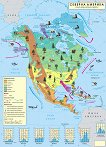 Стенна климатична карта на Северна Америка -