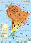 Стенна климатична карта на Южна Америка - М 1:7 500 000 -