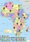 Стенна политическа карта на Африка. Раси -