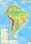 Стенна природногеографска карта на Южна Америка - карта