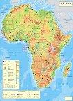 Стенна природногеографска карта на Африка - карта