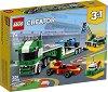 LEGO: Creator - Автовоз за състезателни коли 3 в 1 - Детски конструктор -