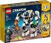 LEGO: Creator - Космически миньорски робот 3 в 1 - Детски конструктор -