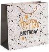 Подаръчна торбичка - Wish: Happy Birthday - С размери 33 / 32 / 13.5 cm -