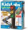 """Сглоби си сам - Светещ светофар - Образователен комплект от серията """"Kidz Labs"""" -"""