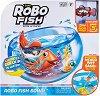 """Плуваща рибка с променящ се цвят с аквариум - Robo Fish - Комплект за игра с вода от серията """"Robo Alive"""" -"""