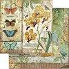 Хартия за скрапбукинг - Орхидея и пеперуди