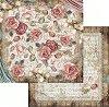 Хартия за скрапбукинг - Рози и дантела - Размери 30.5 х 30.5 cm -