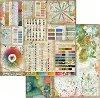 Хартия за скрапбукинг - Цветови палитри - Размери 30.5 х 30.5 cm -