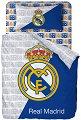 Детски спален комплект от 3 части - ФК Реал Мадрид - 100% памук за матрак с размери 90 / 200 / 25 cm -