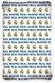Долен чаршаф с ластик - ФК Реал Мадрид - 100% памук за матрак с размери 90 / 200 / 25 cm -