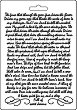 Силиконова форма за моделиране - Ръкопис - Размери 14.8 x 21 cm -