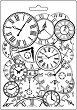 Силиконова форма за моделиране - Часовници - Размери 14.8 x 21 cm -