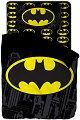 Детски спален комплект от 3 части - Батман - 100% памук за матрак с размери 90 / 200 / 25 cm -